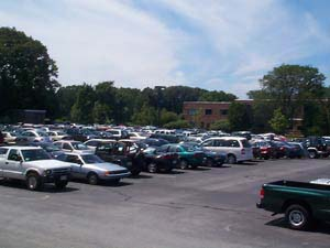 A car lot; Actual Size=240 pixels wide